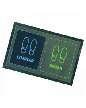 DINTEX Blue-green polyamide disinfectant doormat 45x70 cm