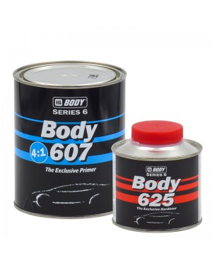 HB BODY Gray Body Filler 607 800 ml + Cat. 625 200 ml HB BODY