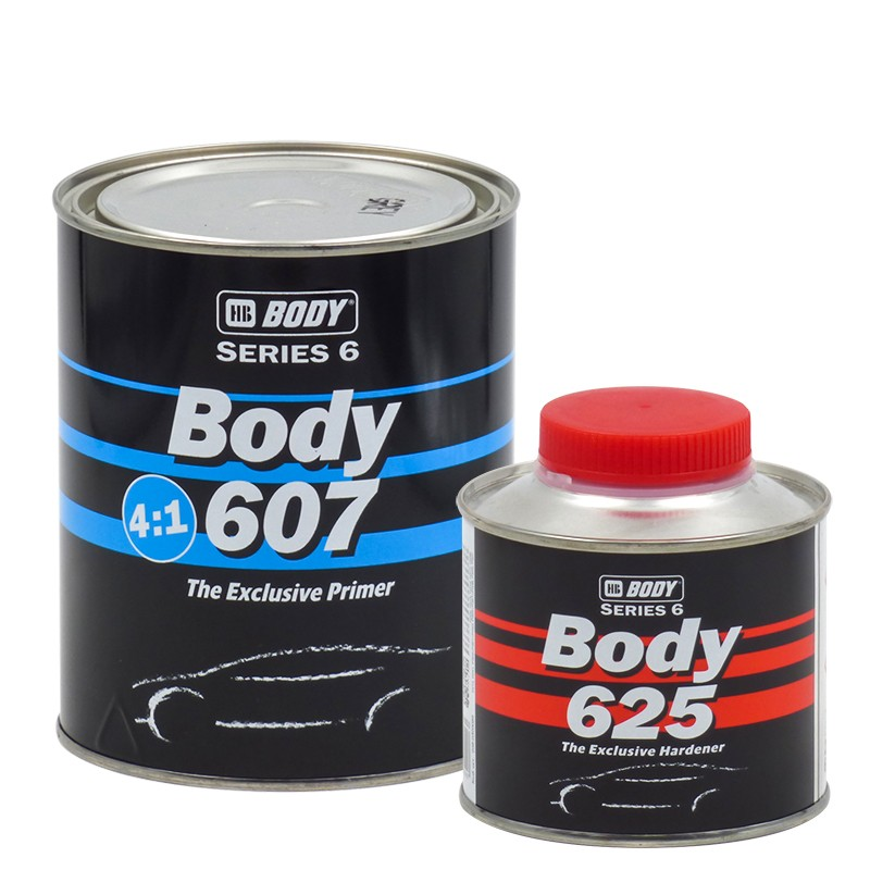 HB BODY Gray Body Filler 607 800 ml + Cat. 625 200 ml HB BODY