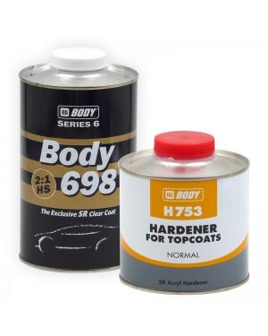 HB BODY Körperlack 698 1 L + CAT. 753 NORMAL 500 ML HBBody