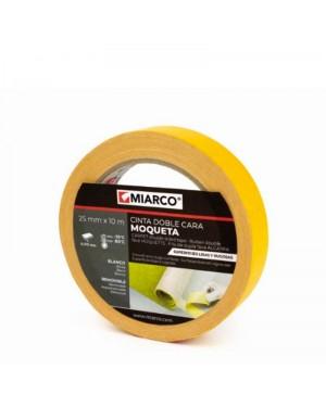 Miarco Cinta Doble Cara Moqueta 25mm x 10m Miarco