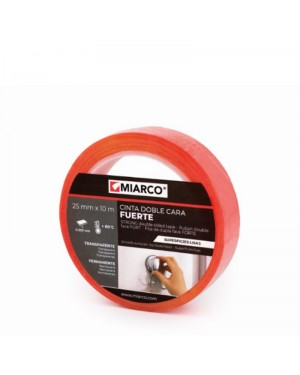 Miarco Double Sided Tape Smooth Surfaces 25mm x 10m Miarco