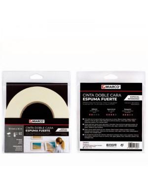Miarco Double Sided Tape Strong Foam 19mm x 10m Miarco