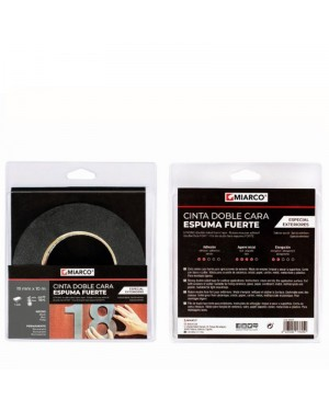 Miarco Double Sided Tape Strong Foam Exterior 19mm x 10m Miarco