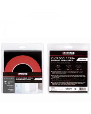 Miarco Double Sided Tape Macbond Unsichtbar 19 mm x 8,25 m Miarco