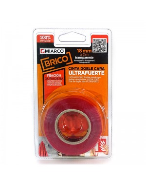Miarco Double Sided Tape Macbond Ultra Strong 18mm x 2m Miarco