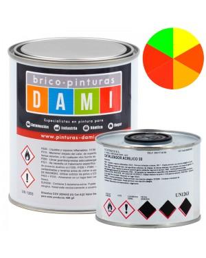 Brico-Gemälde Dami Polyurethan Emaille 2 Komponenten Fluoreszierender Satin 1L