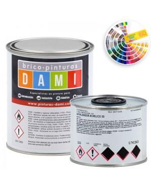 Brico-peintures émail polyuréthane satiné Dami 2 composants