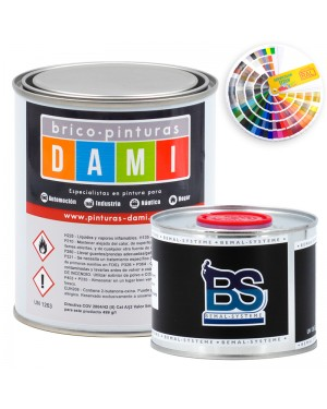 Brico-peintures Dami Monolayer Carrosserie Matt UHS 2K couleur RAL