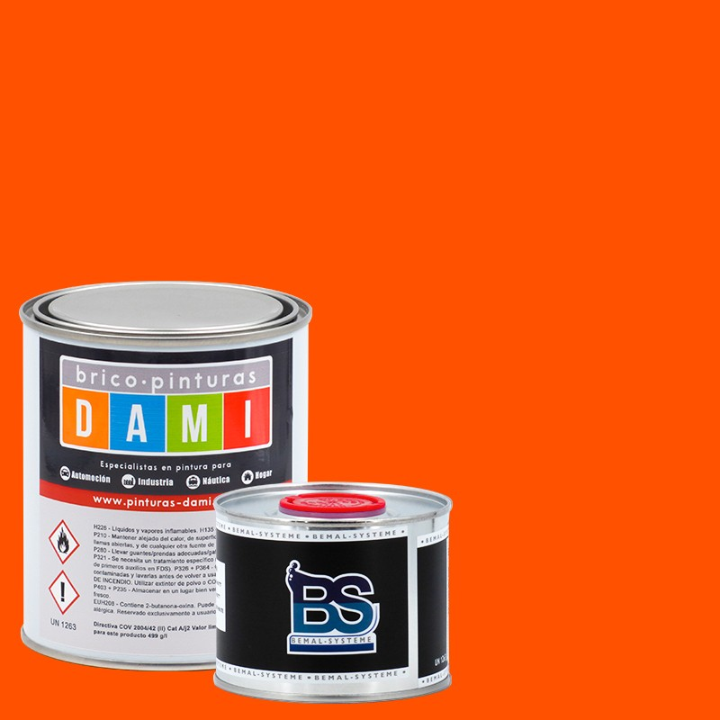 Brico-paint Dami Monolayer Bodywork Matt UHS 2K Fluorescent 1L