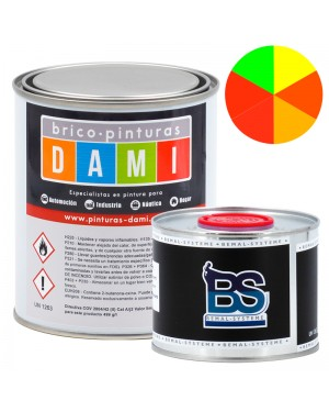 Brico-pinturas Dami Monocapa Carrocería Mate UHS 2K Fluorescente 1L
