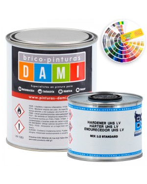 Brico-peintures Dami Monolayer Carrosserie High Glossy UHS 2K couleur RAL