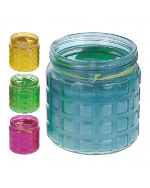 Pote de vidro INTERMAS Citronela Cores sortidas 11,5x12 cm.
