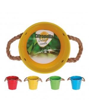 INTERMAS Metallic citronella pot Assorted colors 13x12 cms.