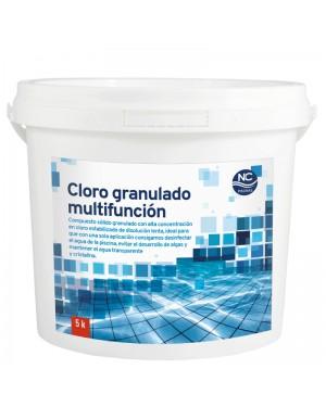 Piscines de chlore granulé multifonction NC 5 kg. Piscines NC