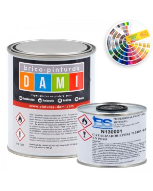 Brico-Dami paint Epoxy paint for semi-gloss floors + catalyst