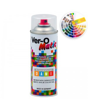 Brico-paints Dami Spray Monocamada Carroceria Matt UHS 2K RAL cor
