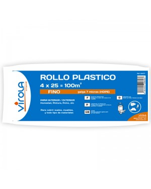 Ferrule Fine plastic roll 4 x 25 m2 VIROLA