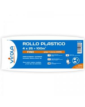 Virola Rollo plástico Fino 4 x 25 m2 VIROLA