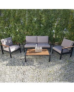 CADENA88 Aluminum-wood garden set Funchal