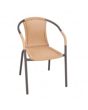 CADENA88 Chaise avec accoudoirs Marron BASIC