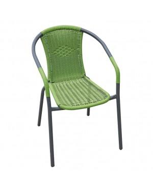 CADENA88 Chaise avec bras Vert BASIC