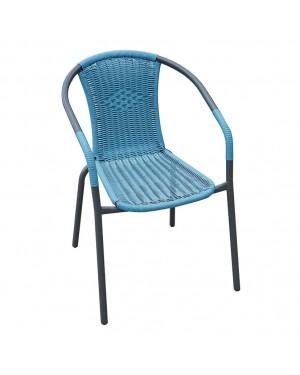 CADENA88 Chaise avec accoudoirs Bleu BASIC