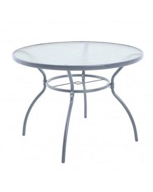 CADENA88 Table ronde acier / verre BRAZIL