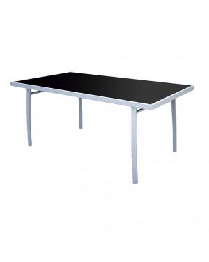 CADENA88 Square steel-tempered glass table BRAZIL