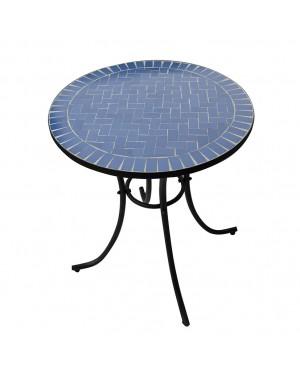 CADENA88 Tavolo tondo con piano in ceramica MOSAICO
