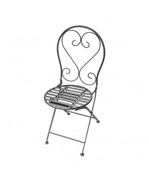 CADENA88 Set di 2 sedie pieghevoli con struttura metallica MOSAICO