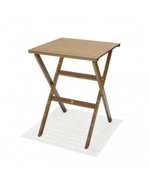 CADENA88 Folding table in eucalyptus wood 56x56xh.74 cm. cm. BREEZE
