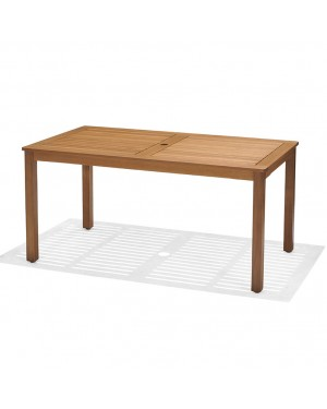 CADENA88 Mesa extensible de madera de eucalipto 150-200x83xh.74 cm. BRISA