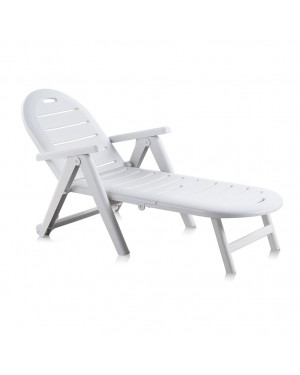 CADENA88 Chaise longue inclinable et empilable Shaf Cayman