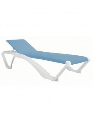 CADENA88 Stackable resin sunbed RESOL Acqua White-blue