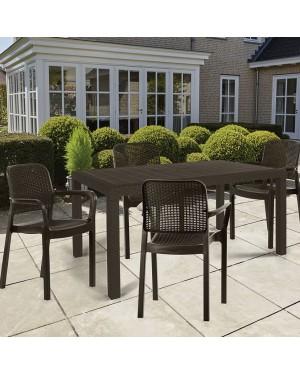 CADENA88 Resin Garden Set Melody Table + 4 Samanna chairs