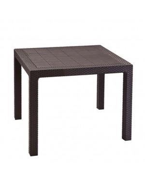 CADENA88 Table résine imitation rotin QUARTED
