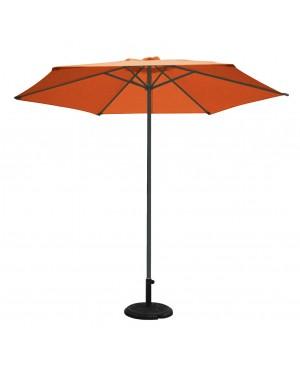 CADENA88 Anthracite-terracotta aluminum parasol. ø 3 m. mast ø 48 mm.