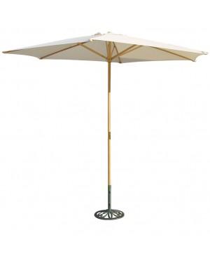 CHAIN88 Natural wood parasol. ø 3 m. mast ø 38 mm.