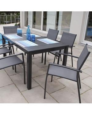 CADENA88 Garden Set Table + 6 Parma armchairs