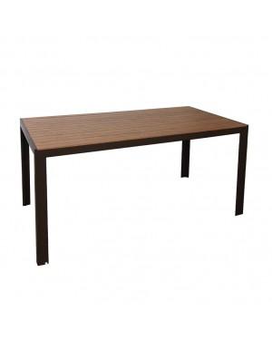 CADENA88 Orlando wood imitation aluminum garden table
