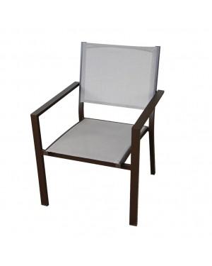 CADENA88 Aluminum armchair with textilene back Orlando