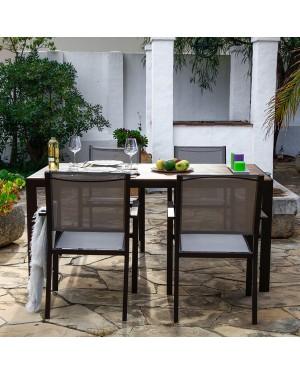 CADENA88 Garden Set Table + 6 Orlando armchairs