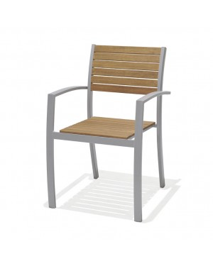 CADENA88 Aluminum-wood chair Marina