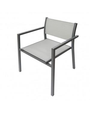 CADENA88 Steel-textilene chair with CAPRI arms