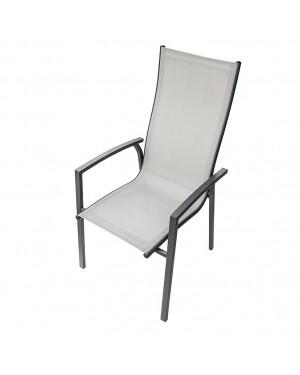 CADENA88 Aluminum-textilene high chair with armrests CAPRI