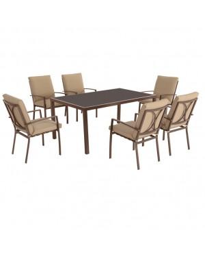 CADENA88 Garden Set Table + 6 chairs MADEIRA