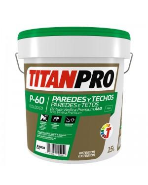 Titan Pro Pintura vinílica Blanca Extra mate 15L P60 Titan Pro