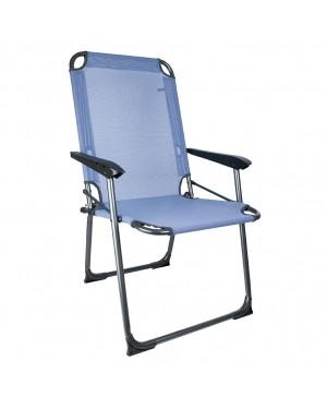 CADENA88 Fixed aluminum armchair - textilene Mediterraneo