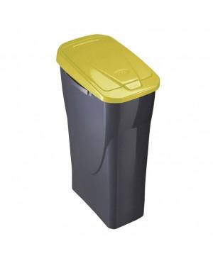 HABITEX Recycling Bin Ecobin 15 L Yellow Lid